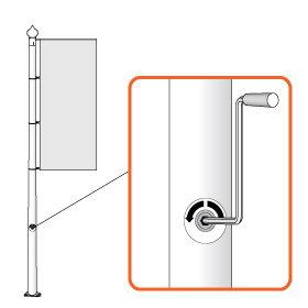 Banner Lift Winch System 10m Banner Lift Winch
