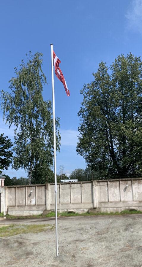 Saliekams alumīnija karoga masts, 6m